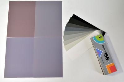 K50の出力と無彩色なカラーカードの比較