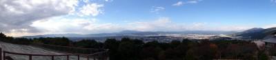 将軍塚西展望台からのパノラマ