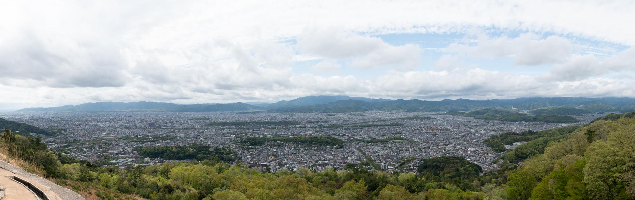 大文字から京都市内を一望